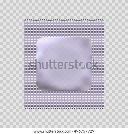 Condom package or condom wrapper isolated on transparent background. 3d illustration. Contraceptive method.