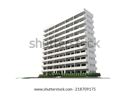 Condominium - stock photo