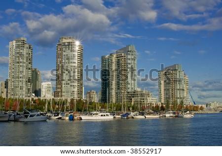 condominium high rises - stock photo