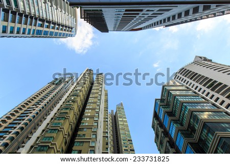 Condominium in Sukhumvit 26, Bangkok City in Thailand - stock photo