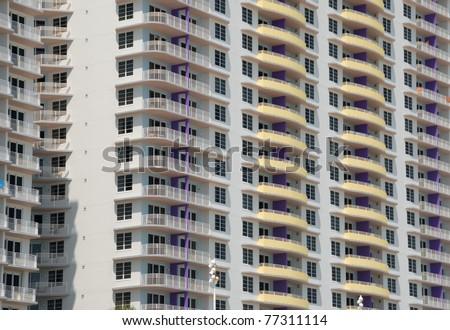 condominium on the east coast of florida usa - stock photo