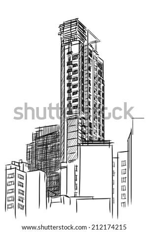 Condominium sketchbook  - stock photo