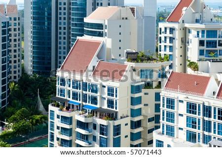 Condominiums on Singapore's East Coast - stock photo