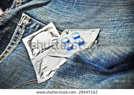 Condoms and Viagra Sex Trade and Desire - stock photo