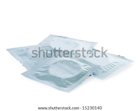 condoms pack isolated on a white background