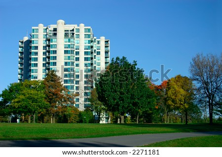 Condos Near the Park - stock photo
