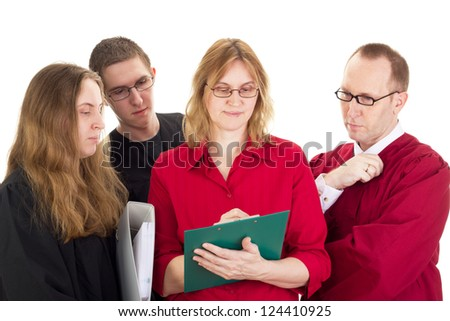 Conducting a lawsuit - stock photo