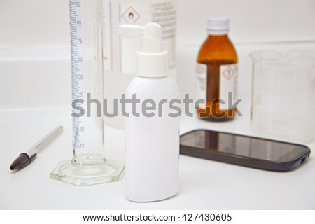 Conducting chemical laboratory test tube analysis
