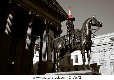cone head - stock photo