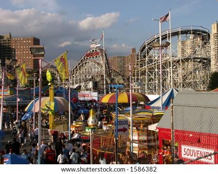 Coney Island Astroland Amusement Park - stock photo