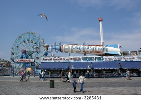 Coney Island - Astroland Amusement Park - stock photo