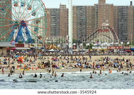 Coney Island in Brooklyn, New York. (Editorial only) - stock photo