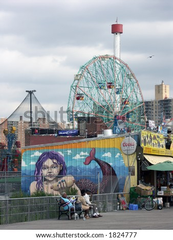 Coney Island Mermaid - stock photo