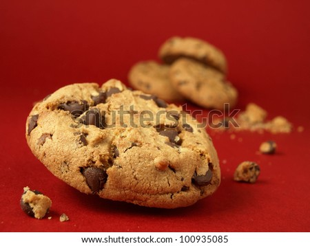 Confectionery (chocolate chip cookies)  - stock photo