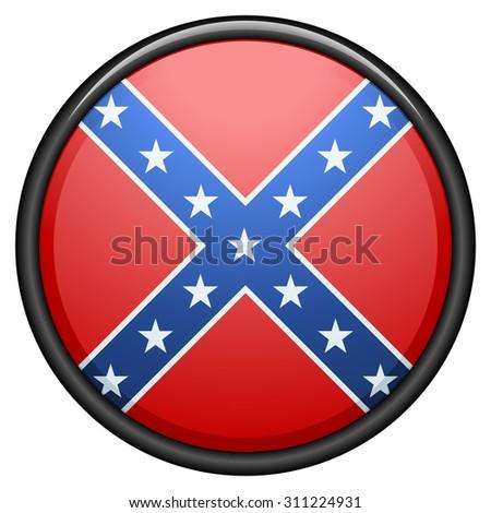 Confederate button - stock photo