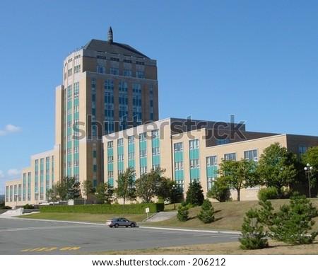 Confederation Building, St. John's Newfoundland, - stock photo
