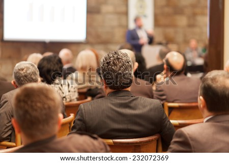 conference audience - stock photo