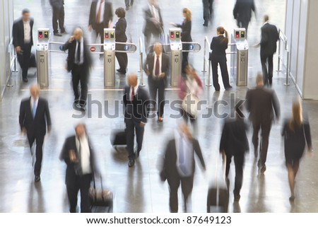 Conference Center Entrance with motion blur - stock photo