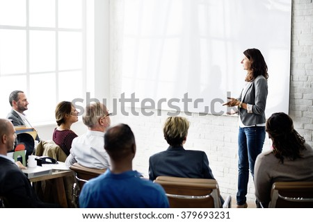 Conference Colleagues Business Communication Concept - stock photo
