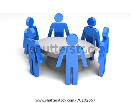 Conference. Concept. 3d illustration - stock photo