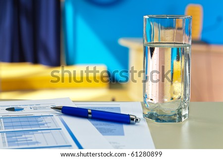 Conference concept. Shallow DOF - stock photo