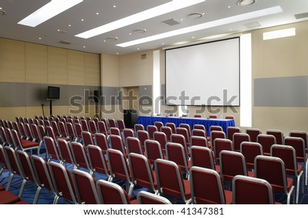 Conference hall. - stock photo