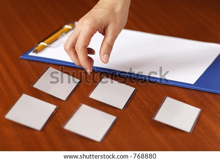 Conference registration - stock photo