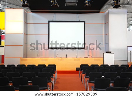Conference room for trade show events