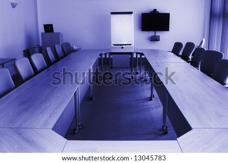 Conference room in office building - stock photo