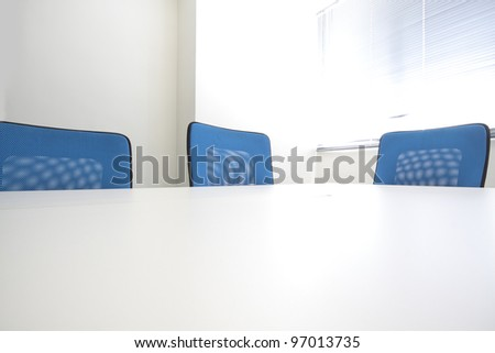 Conference room interior at day - stock photo