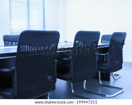 Conference room tables and chairs