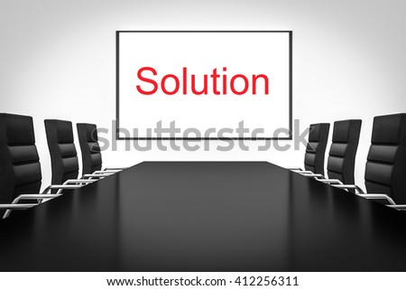 conference room whiteboard business solution 3d illustration - stock photo