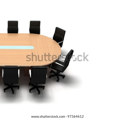 Conference Table. 3d illustration