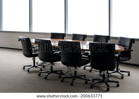 conference table in room - stock photo