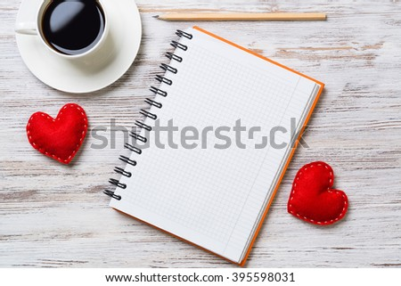 Confession on Valentines day - stock photo