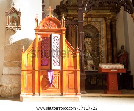 Confessionale - stock photo