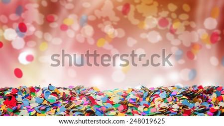 Confetti, background, carnival, bokeh - stock photo