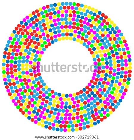 Confetti Background circle. Illustration