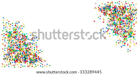 Confetti banner background. Birthday, carnival, holidays party decoration - stock photo