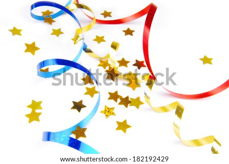 confetti isolated on white - stock photo