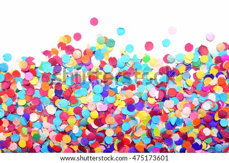 confetti isolated on white background