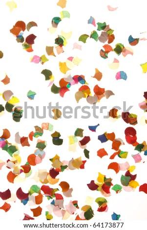 confetti on white background - stock photo