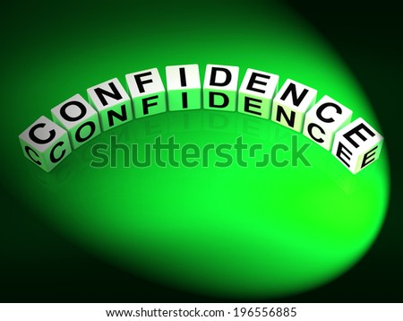 Confidence Letters Meaning Believe In Yourself And Certainty - stock photo