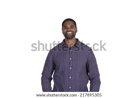 Confident adult male looking at the camera - stock photo