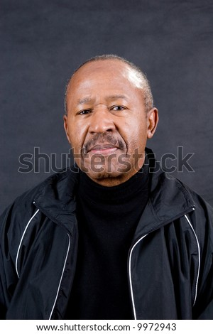 confident african american man retirement age - stock photo