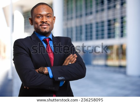 Confident african businessman - stock photo