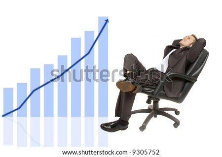 confident and successful young adult businessman - stock photo