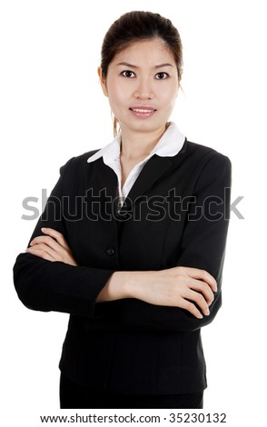 Confident Asian Business/Educational women with smiling face. - stock photo