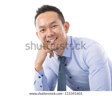 Confident Asian man - stock photo