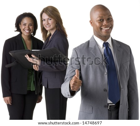 Confident business team - stock photo